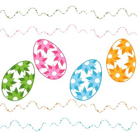 Vector illustration of easter eggs