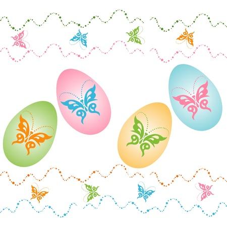 Vector illustration of easter eggs Illustration