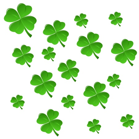 St  Patrick background with clover, element for design, illustration Vector