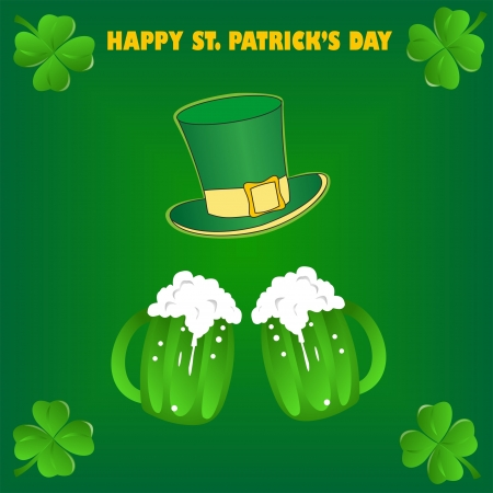 Green beer for St Patrick s Day Vector