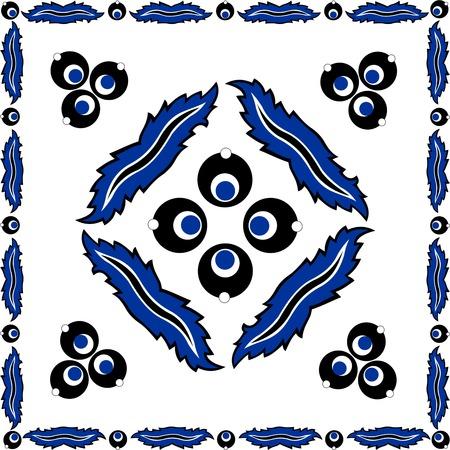 cinta: Turkish designer hand made, Turkish tiles cinta Bremen design Illustration