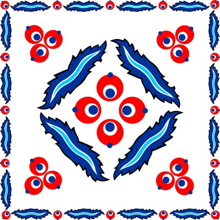 Turkish designer hand made, Turkish tiles cinta Bremen design Ilustração