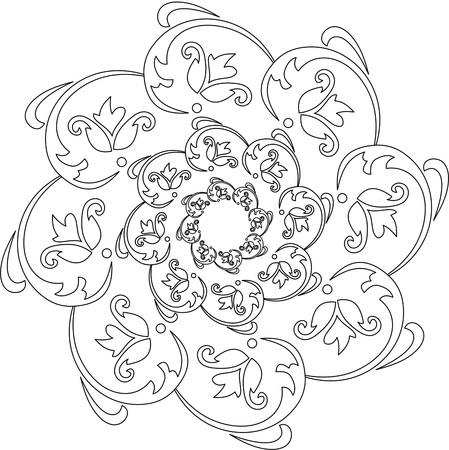 mandala: black and white mandala, mandala coloring pages, Coloring page mandala