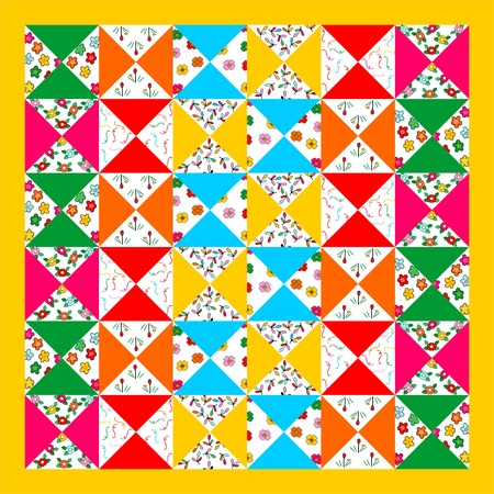 quilted fabric: patchwork seamless pattern, Seamless background patchwork style