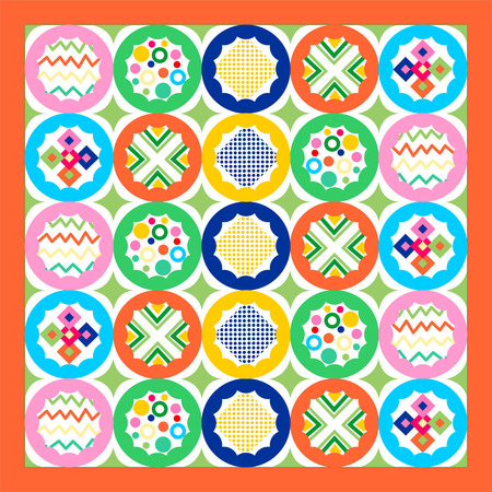 patchwork: geometric patchwork seamless pattern, Seamless background patchwork style