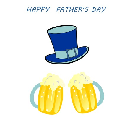farther: cradler greeting happy fathers day, Fathers Day Celebration, Fathers Day celebration with beer glass,