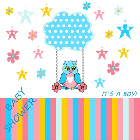 baby boy announcement card, announcement cards, baby shower card for baby boy on a white background