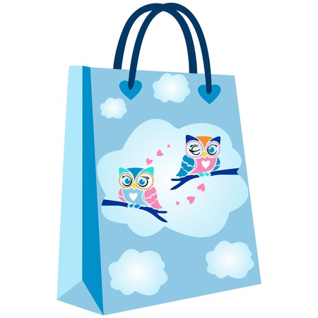 paper shopping bags for your design, cute owl patterned shopping bag, cute shopping bag pattern