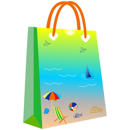 paper shopping bags for your design, shopping bag for summer, summer view shopping bag