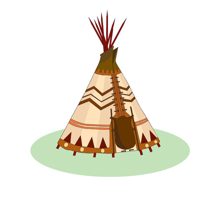 Vector illustration of a tepee, wigwam, indian tent