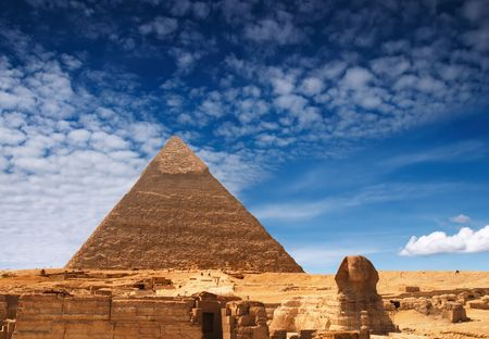tremendous: Egyptian pyramid Stock Photo