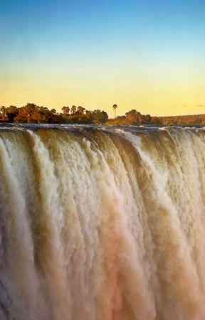 Victoria Falls at sunset photo