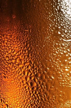 brewage: Glass of beer with water drops