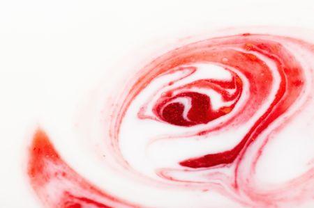 yogurt: Resumen de antecedentes con mermelada y crema Foto de archivo