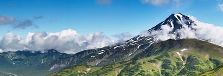 extinct: Mountain panorama with extinct volcano