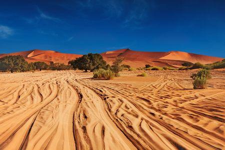 parch: Sunset in Namib Desert. Sossusvlei, Namibia.