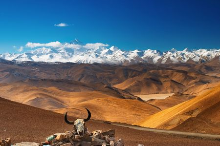 Mount Everest, view from Tibet