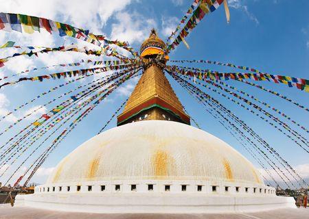 kathmandu: Buddhist temple Bodhnath in Kathmandu, Nepal
