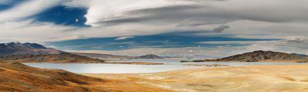 nomadism: Landscape with beautiful lake, Western Mongolia
