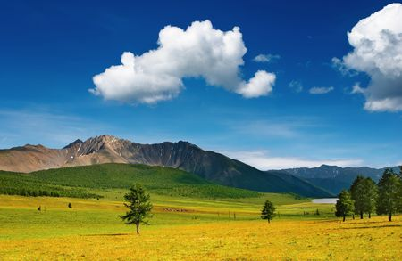 Beautiful landscape with mountains and blue sky Stock Photo - 2866544