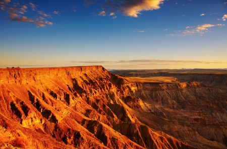 kalahari desert: Fish River canyon- the second largest canyon in the world, South Namibia   Stock Photo