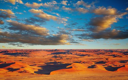 birdseye view: Namib Desert, dunes of Sossusvlei, birds-eye view  Stock Photo