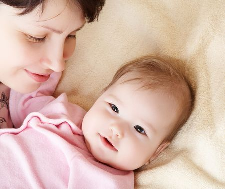 Happy mother and her baby Stock Photo - 3028020