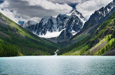 Beautiful lake in Altai mountains photo