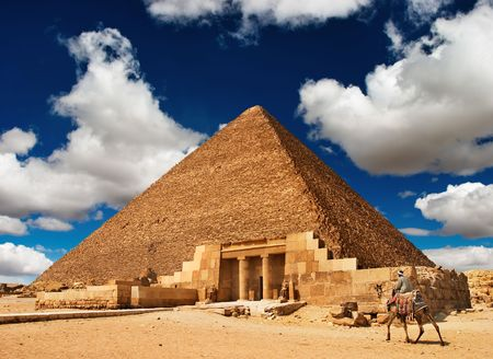 egyptian pyramids: Ancient egyptian pyramid in Giza