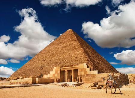 sfinx: Oude Egyptische piramide in Giza
