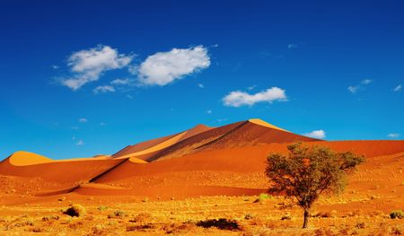 sossusvlei: Dunes of Namib Desert, Sossusvlei, Namibia  Stock Photo