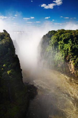 Victoria Falls and Zambezi river Stock Photo - 3396310
