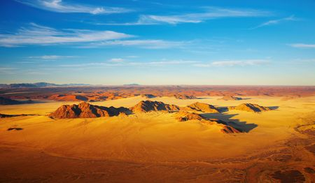 sossusvlei: Namib Desert, dunes of Sossusvlei, birds-eye view  Stock Photo