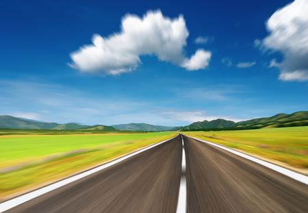 Empty road with motion blur Stock Photo - 3669154