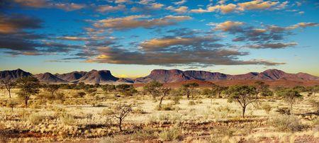 African landscape, Kalahari Desert, Namibia Stock Photo