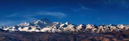 everest: Mount Everest, view from Tibet