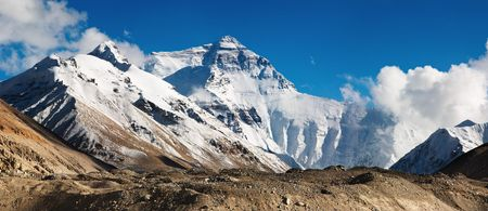 Mount Everest, North Face, view from tibetan base camp photo