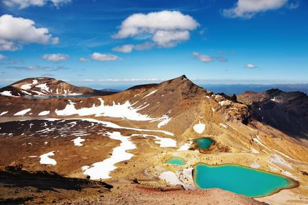 Emerald Lakes, Tongariro National Park, New Zealand Stock Photo - 4193809