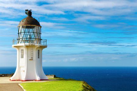 Cape Reinga Lighthouse, north edge of New Zealand  photo