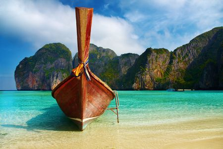 sea scenery: Tropical beach, Maya Bay, Andaman Sea,Thailand