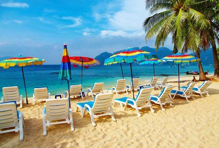 andaman: Tropical beach, Phi-Phi Islands, Andaman Sea, Thailand