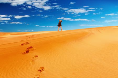 parch: Sand dune climbing  Stock Photo
