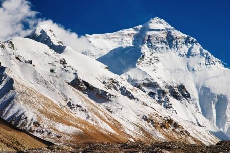 mount everest: Mount Everest, North Face, das Basis-Camp Lizenzfreie Bilder