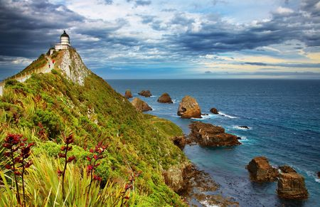 Nugget Point Lighthouse, New Zealand Stock Photo - 4754189