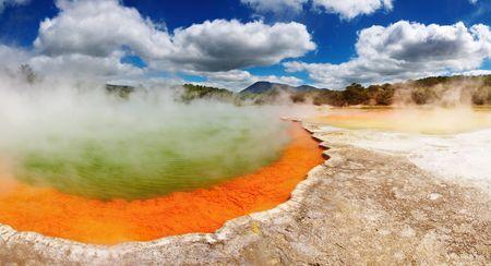 Champagne Pool, hot thermal spring, Rotorua, New Zealand