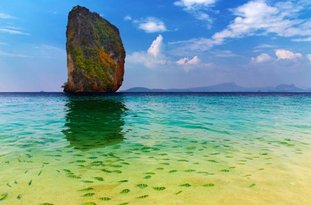 tropical paradise: Tropical paradise, Poda Island, Andaman Sea,Thailand  Stock Photo