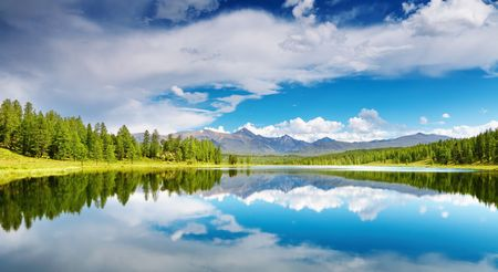 Beautiful lake in Altai mountains Stockfoto