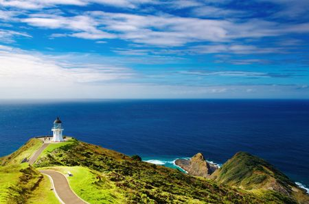 Cape Reinga Lighthouse, north edge of New Zealand  Stock Photo - 4883539