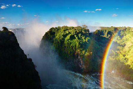 simbabwe: Sambesi-Fluss und Victoria Falls, Simbabwe Lizenzfreie Bilder