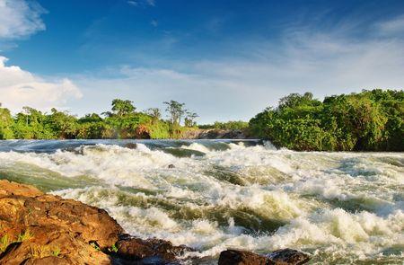 white nile: Nilo Blanco, Bujagali Falls, Uganda,